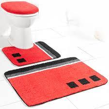 sensino badezimmer garnitur für stand wc 3 tlg rot olivera