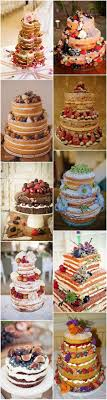 Naked Wedding Cake For Rustic