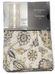 envogue brocade damask window curtain panels pair 96 navy gold