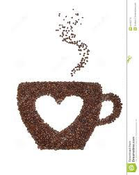 A Cup Of Coffee With Heart Symbol Royalty Free Stock Image