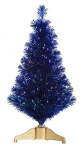 Small Fiber Optic Christmas Trees by Color Crush Bold Blue Hayneedle Blog