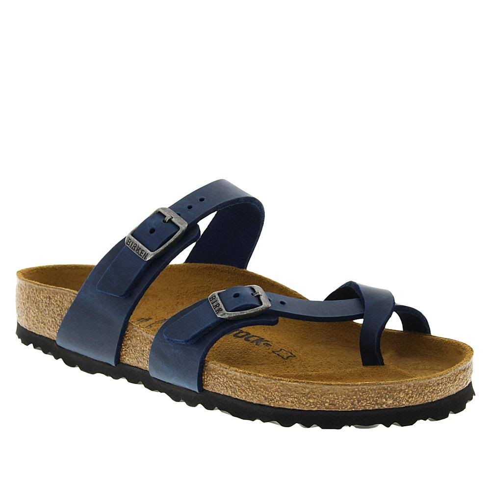 Birkenstock Women's Mayari Sandal - 38 - Blue Oiled Leather