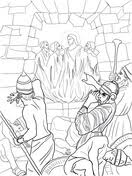 Shadrach Meshach And Abednego In The Fiery Furnace From Prophet Daniel