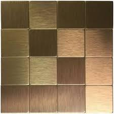 Adhesive Backsplash Tile Kit by Copper Tiles For Backsplash In Kitchen Copper Long Grain Metal