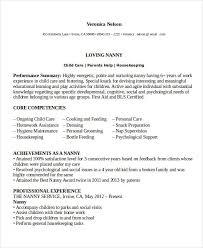 professional nanny resume sle unforgettable time nanny