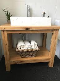 waschtisch aus eichenbalken waschtisch holz unterschrank