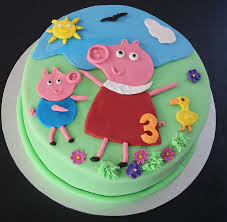 peppa pig cake decorations how to make a peppa pig cake my kitchen stories