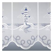 maritime scheibengardine leuchtturm für bad oder küche