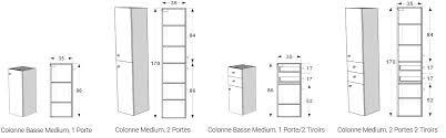 meuble salle de bain 40 cm largeur 3 colonne et colonne basse