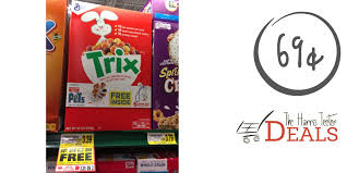Trix Cereal As Low 69c