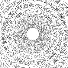A Squiggly Line Tunnel From The Stoners Coloring Book