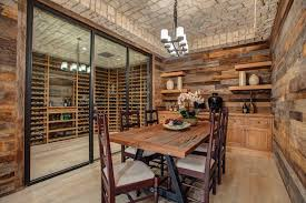 Basement Accent Wall Ideas Wine Cellar Traditional With Stone Ceiling Room Wood Cabinets