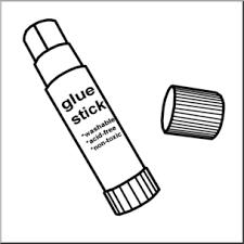 Clip Art Glue Stick 1 B&W I abcteach preview 1