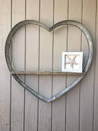 Wine Barrel Heart Metal Decor Rustic Farmhouse Wall Art