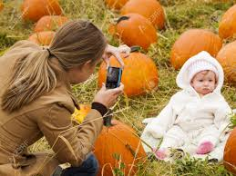 Pumpkin Patch Glendale Co by Mother Taking Picture Of Her Newborn In Pumpkin Patch 2012