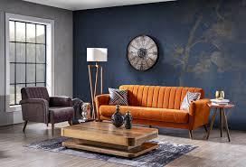 weltew couchgarnitur 2 teilig retrostyle orange