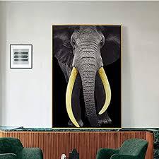 yuanminglu modernes bild elefant schwarz gold elfenbein