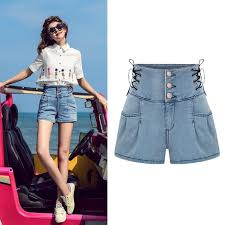 Korean Girls Style Latest Fashion Ladies Narrow Bottom Hot Pants Jeans