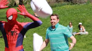 Spider Man Pillow Fight Prank