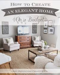 Cheap Living Room Ideas by Best 25 Budget Decorating Ideas On Pinterest Decorating On A