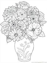 Full Image For Free Printable Summer Flowers Coloring Pages Flower