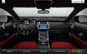 land rover evoque interieur photo range rover evoque configurateur interieur