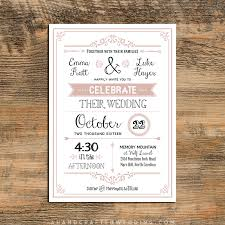 Lovely Wedding Invitation Template Rustic