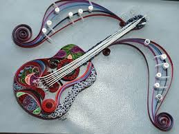 Customized Quilled Guitar Wall Art For Christmas