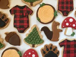Decorated Shortbread Cookies by Homemade Some Woodland Themed Shortbread Cookies For A Baby