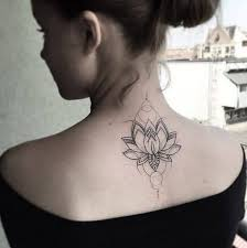 Simple Lotus Flower On Upper Back For Women The Ask Idea