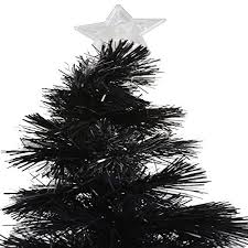 Pre Lit Pencil Christmas Trees Uk by Luxury Pre Lit Pencil Slim Black Christmas Tree W White Blue 80