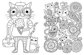 Simply Simple Cat Coloring Book Pages