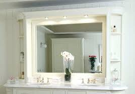 Double Vanity Bathroom Mirror Ideas by Bathroom Double Vanity Mirror Ideas With Led Lights Side
