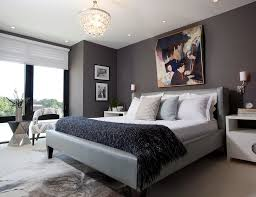 Bedroom Nice Modern Blue Master Bedroom Awesome Decoration With