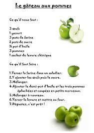 recette de cuisine gateau la maternelle de laurène le gâteau aux pommes
