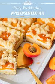 aprikosenkuchen vom blech mit feiner schmandcreme