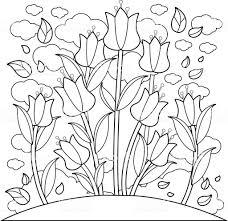 Tulipe 22 Nature Coloriages à Imprimer