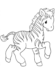 Coloring Pages Animals Zebra 3