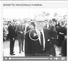 Jeanette MacDonald funeral footage showing Nelson Eddy – Jeanette