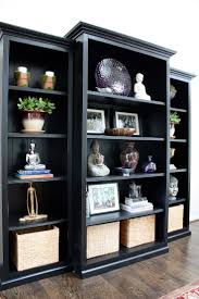 Decorating Bookshelves In Family Room by Top 25 Best Black Bookcase Ideas On Pinterest Bookcases