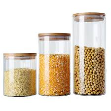 boite de rangement cuisine 6 taille en verre boîte de rangement thé boîte alimentaire pour la
