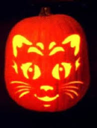 Pumpkin Carving Witch Face Template by Tt47 Stencil Topper Halloween Kitty Pumpkin Orange Cat For Blocks