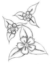 Easy Flower Drawings In Pencil Bouquet Idea