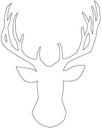See Best Photos Of Elk Template Printable Coloring Pages Free Deer Head Stencil Moose Drawing