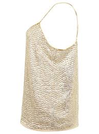 gold sequin cami miss selfridge