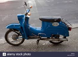 Blue Old DDR Motor Scooter Germany Berlin
