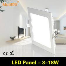 ultra brighter 3w 6w 9w 12w 15w 18w led panel lights ac85 265v