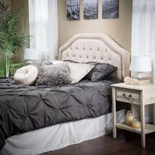 Roma Tufted Wingback Bed Frame by Dorel Living Dorel Living Tufted Wingback Queen Headboard Oyster