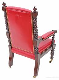 Victorian Oak Leather Armchair Throne Chair Carver - Antiques Atlas Early Victorian Mahogany And Leather Armchair C 1850 United 19th Century Pair Of English Armchairs For Sale Stunning Antique Marylebone Antiques Quality 1870 England From Deep Buttoned C1850 429276 Burgundy Gentlemans Chairs Accent Chair Whit Oval Back And Arm Occasional Ideas
