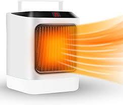heizlüfter elektrische heizung keramik heizlüfter energiesparend 600w 800w timing heizstrahler mit automatischer überhitzungs ausschaltschutz led